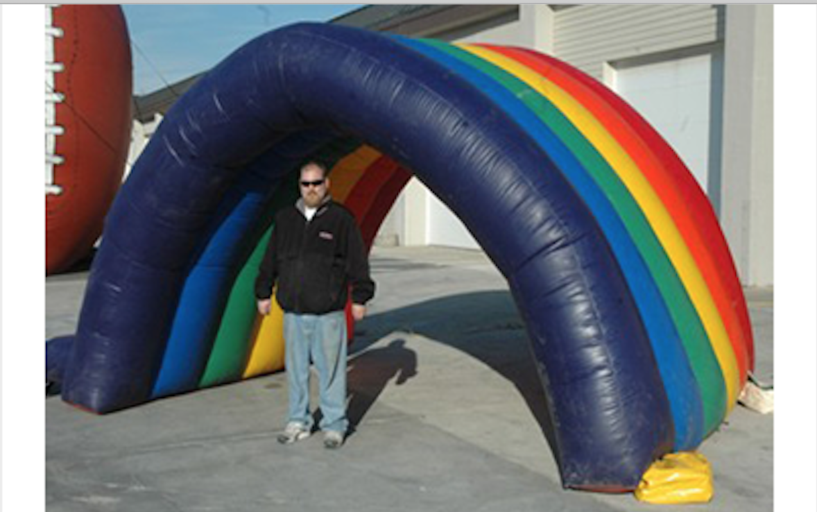 Inflatable Rainbow Arch Image