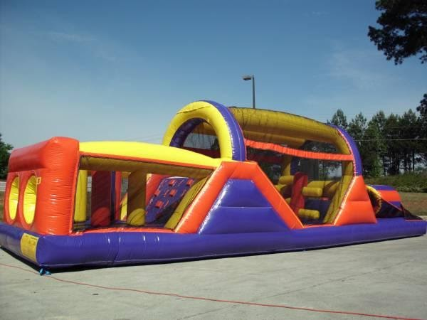Giant Purple Obstacle Course Image